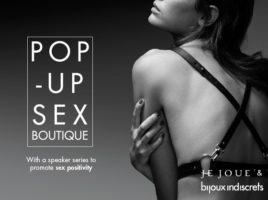 sex education and pop-up shop ad